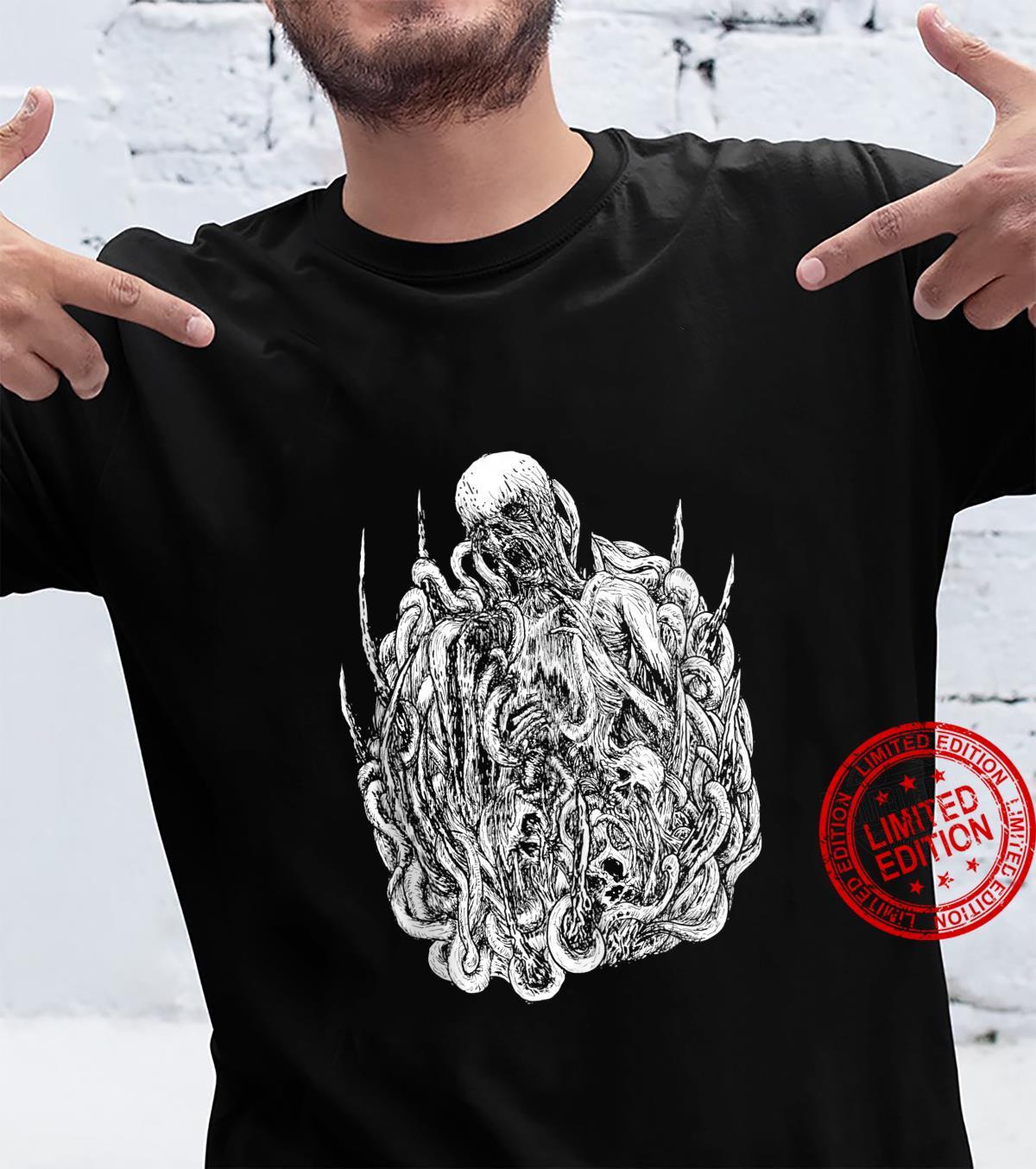 Brutal Skull Satanic Occult Art by KRAFTD Shirt
