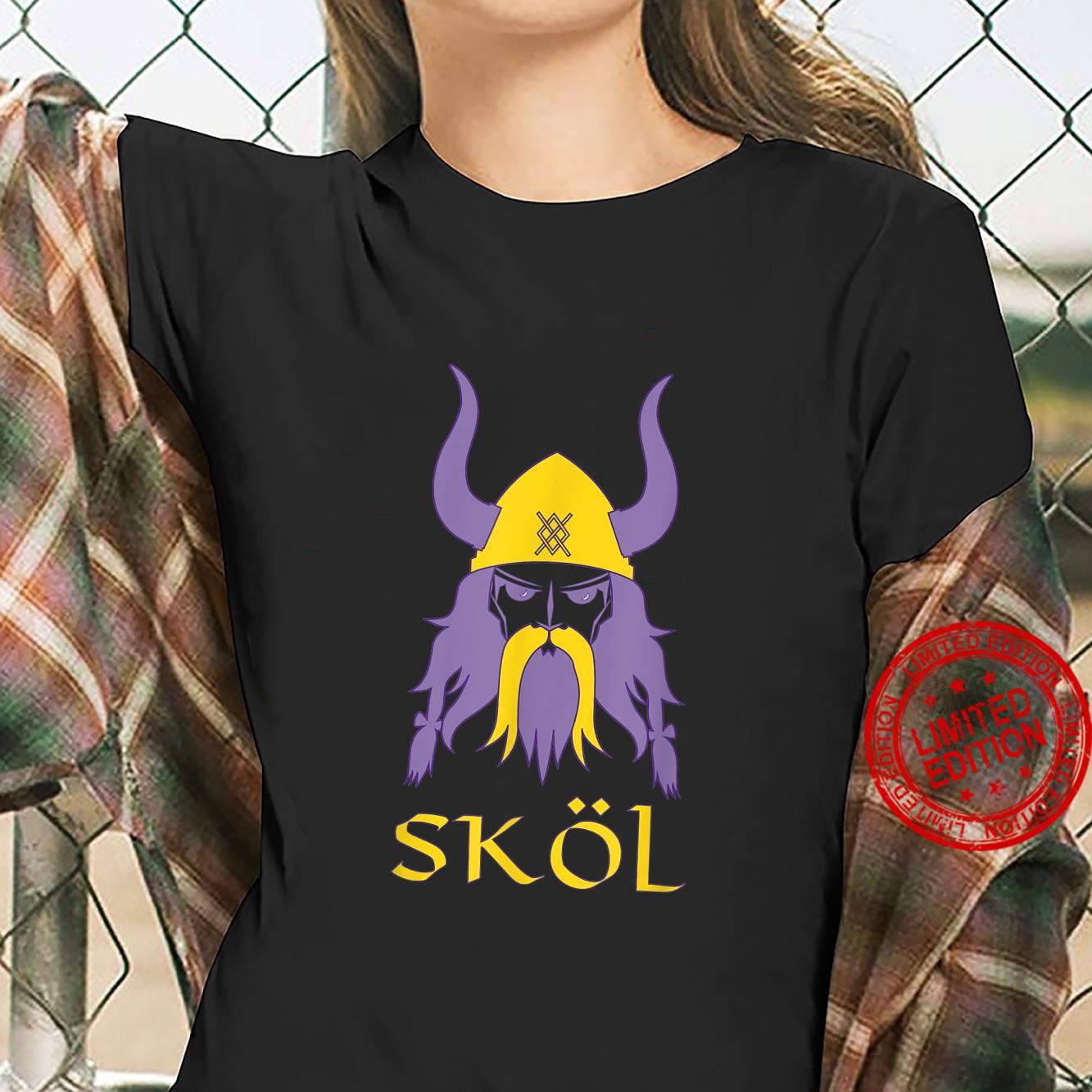 Skol Nordic Scandinavian Warrior Viking Helmet Shirt ladies tee