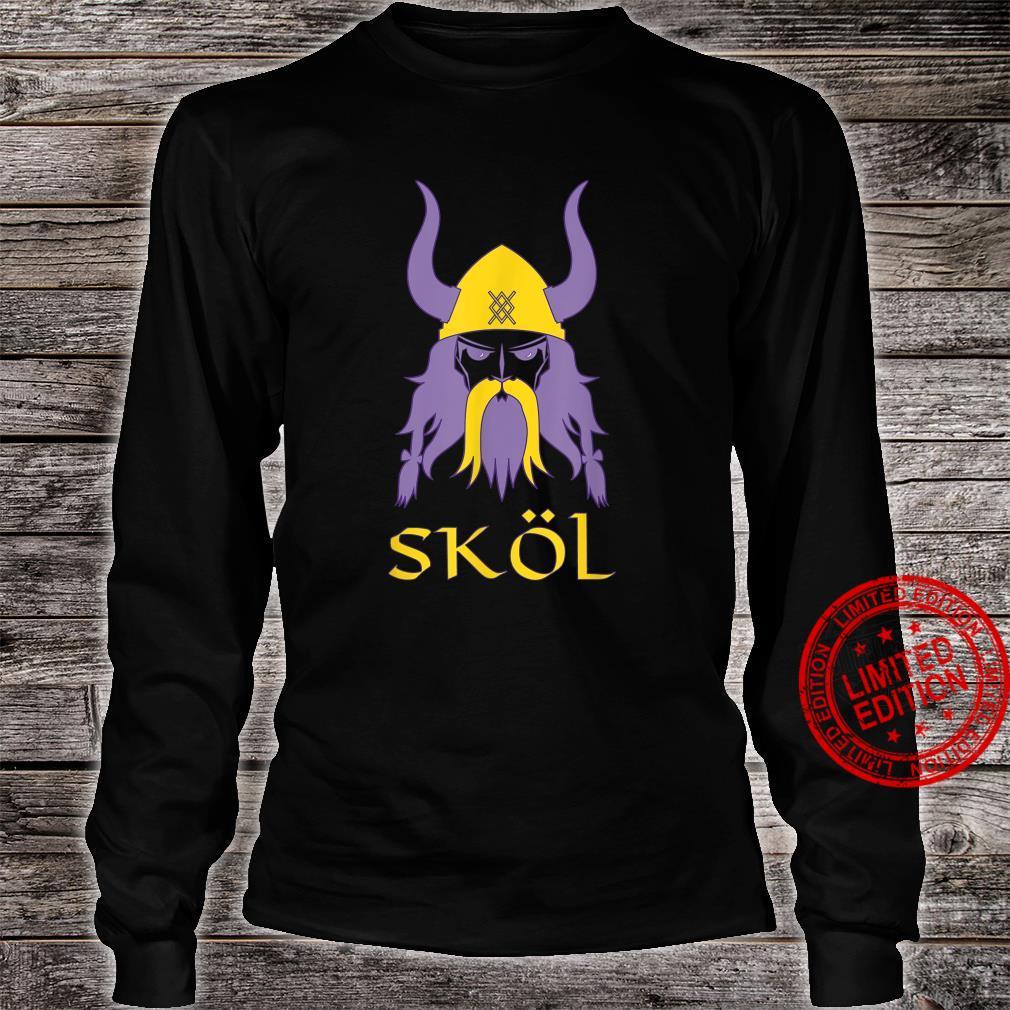 Skol Nordic Scandinavian Warrior Viking Helmet Shirt long sleeved