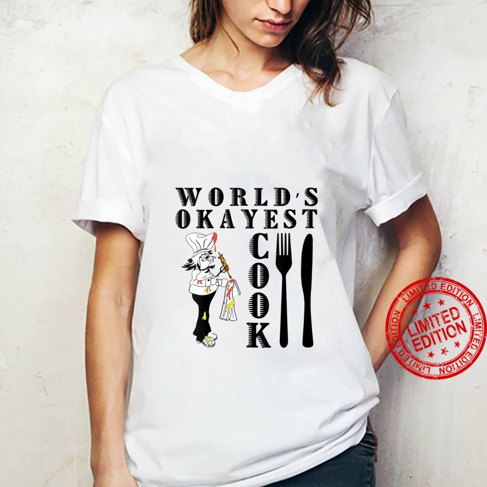 Womens World's Okayest Cook Shirt ladies tee